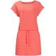 Jack Wolfskin Travel Striped Dress Women hot coral stripes